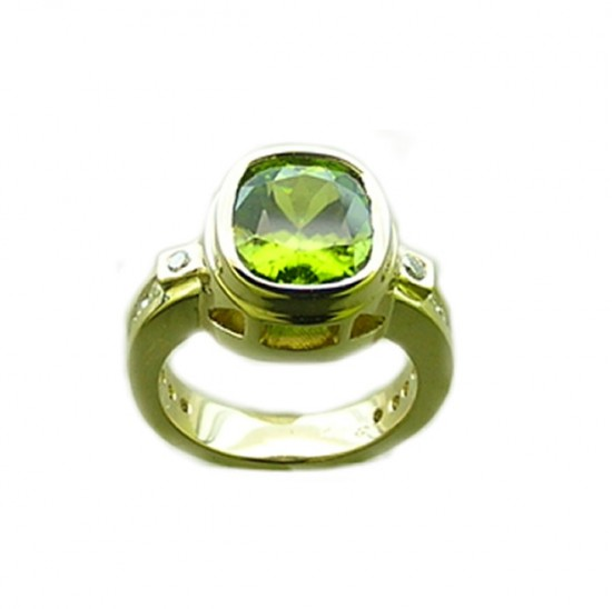 18k Tourmaline Diamond Ring