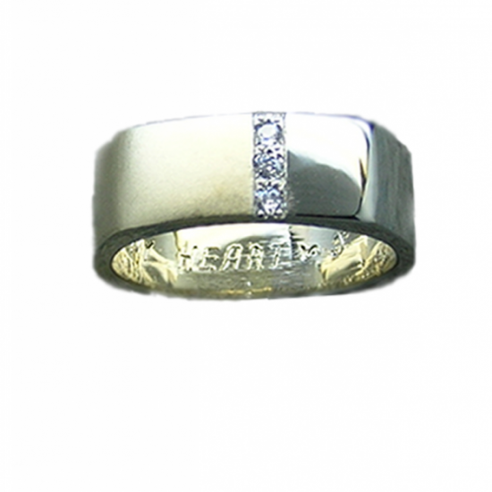 Wedding Band, Two Tone Polished